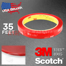 Genuine 3M VHB #4905 Double-Sided Mounting Foam Tape Automotive Car 12mm x 35FT