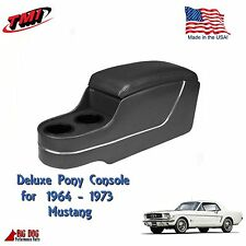 Black Deluxe Pony Console for 1964 to 1973 Mustang Coupe, 2+2 w/Factory Console
