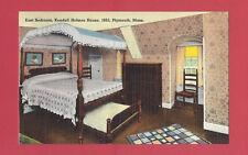 Plymouth Massachusetts East Bedroom Kendall Holmes House 1653 Vintage Old Linen