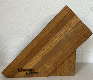 Chicago Cutlery Wooden Knife Block 11 Slots Brown Wood Knives Holder Kitchen
