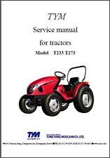 TYM T233 - T273 HST Tractor Repair Service Workshop Manual CD - T233HST T273HST