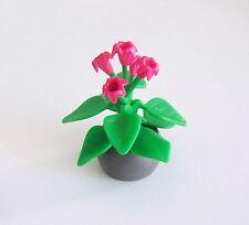 PLAYMOBIL (R601) MAISON MODERNE - Plante Intérieur dans Pot Bac Gris Salon 3966