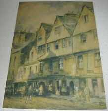 1920's F ROBSON PRINT HUNTLEY HOUSE EDINBOROUGH TRADEMARK MADE IN ENGLAND