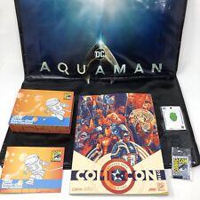SDCC 2018 San Diego Comic Con 2018 Collectors Box Pin Book Aquaman Bag Hulk Pin
