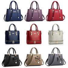 Women Leather Bag Satchel Ladies Handbag Purse Tote Leather Messenger Crossbody