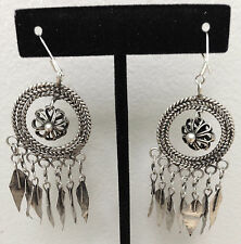 Miao Minority Hill Tribe Asian  Silver Dong Earrings