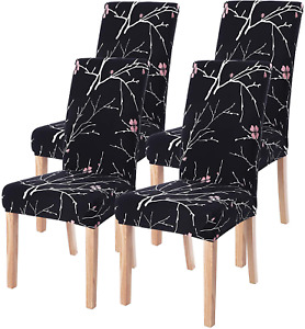 SearchI Dining Room Chair Covers Set of 4, Stretch Parsons Chair Slipcovers Supe
