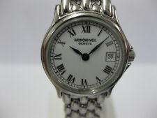 Donna Raymond Weil Bracciale in Acciaio Inox Quadrante Bianco 5377 CON BOX #1074