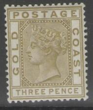 GOLD COAST SG15a 1889 3d OLIVE MTD MINT