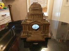 Rare Antique Cast Metal Capital Clock Case