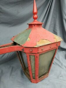 """Antique Architectural Wall Sconce Cast Iron Brass Great Coloration 21""""x 21"""""""