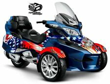 "Can Am Spyder RT RTS graphic wrap decal kit ""The Patriot - USMC"""