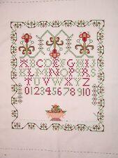 "Classic Vintage casi completado cross stitch 13 ""x 11"" - Modelo Europeo"