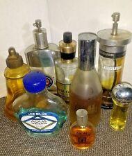 Vintage Mens Cologne Bottle Lot of 8 Old Spice Jade East Aqua Velva Jaguar