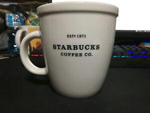 Starbucks 2001 Barista Ceramic Coffee Mug/Cup 18 oz White  Est 1971