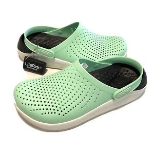 Crocs Literide Clogs Mint Green Foam Technology 204592-3TP Mens 9 Women 11