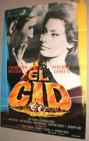 A1.Filmplakat ,EL CID,CHARLTON HESTON,SOPHIA LOREN