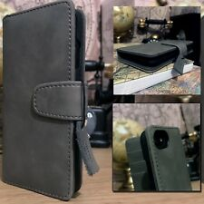 iPhone 8 Real  Leather Grey Case Business Class  Folio Limited Edition