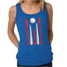 Sports Fan Puerto Rican Baseball Pride Women Racerback Tank Top Sleeveless