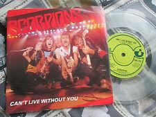 "Scorpions Can't Live Without You Harvest HAR 5221 TRANSPARENT UK 7"" Vinyl single"