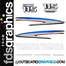 Motor Fuera De Borda Yamaha 115hp de cuatro tiempos calcomanías/Kit de la etiqueta engomada