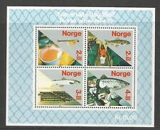 Norway 1987 Stamp Day/Salmon Fishing semipostal ss--Attractive Topical (B70) MNH