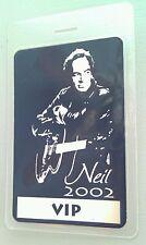 NEIL DIAMOND 2002 SILVER FOIL LAMINATED BACKSTAGE PASS VIP