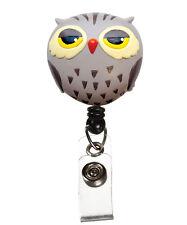 Prestige Medical Retractable ID Badge Holder OWL *Bulldog clip  Nurse Retracteze
