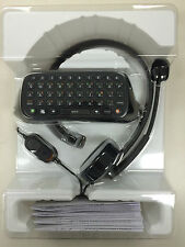 NEW!! MICROSOFT XBOX 360 CHATPAD MESSAGING KEYBOARD / HEADSET OEM!!!! (BLACK)
