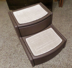 Pet Gear Easy Step II Pet Stairs, 2 Step for Cats/Dogs up to 75-pounds, Washable