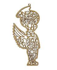 "50 pieces WOOD GUARDIAN ANGELS PRAYER Spanish SILUET ANGEL DE LA GUARDA 8.85""X4"""