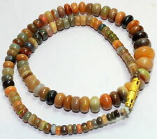 94.10 CT NATURAL ETHIOPIA OPAL MALA ASTROLOGICAL STRING MULTI COLOR BEAUTIFUL