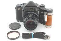 【Near MINT】 Pentax 6x7 Eye Level SMC Takumar w/ 105mm f2.4 Lens Wood Grip JAPAN