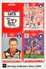 1991 Stimorol AFL Trading Cards Club Team Set Geelong (11) -- Mint!