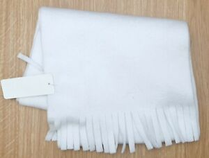 INTERNATIONAL HEADWEAR White Polyester Scarf 158 x 23 cm Brand New Dusty