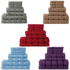 100% Pure Cotton Towels Bathroom 8 pcs Gift Set Bath Face Hand Soft Absorbent