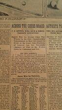 MAR 4, 1906 NEWSPAPER PAGE #J5679- HOPPE, SLOSSON + SAM LOYD CHESS PROBLEM #400