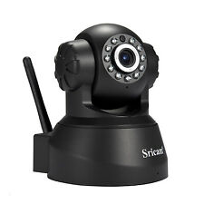 Sricam SP012 IP Camera 720P HD Wifi Infrared Monitor Wireless Pan/Tilt Black