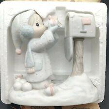 """Precious Moments 5"""" Figurine E2829 """"I'm Sending You A White Christmas"""" New"""