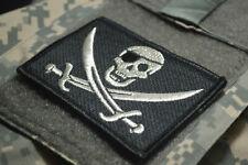 Afsoc Kampf Control Tacp Klette Aufnäher: Piraten Calico Jack Einäuglein Silber