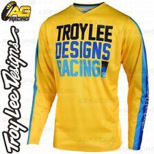 Troy Lee Designs 2019 GP Premix 86 Yellow Blue Race Jersey Shirt MX Enduro ATV