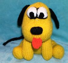 KNITTING PATTERN - Pluto inspired chocolate orange cover / 15 cms Mickey Dog toy