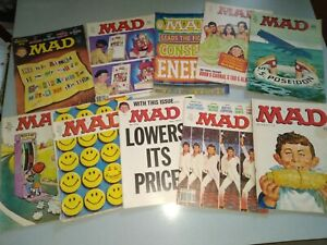 Lot of 10 Mad Magazines 1970's GOOD condition