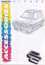Suzuki Vitara Accessories 1991-92 Original UK Market Sales Brochure