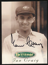 1996 Futera Ian Craig Signature Heritage Collection Cricket Card no. 38