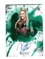 WWE Natalya 2018 Topps Undisputed Green On Card Autograph SN 2 of 50