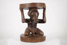 "Songye Caryatid Stool 16"" - Dr Congo - African Art"
