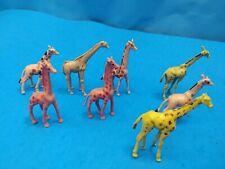 Vintage Plastic Toy Animals - Hong Kong - Giraffes