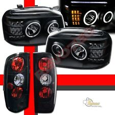 Dual CCFL Halo LED Projector Headlights & Tail Lights For 01-04 Nissan Frontier