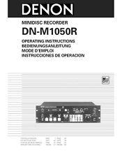 Denon DN-M1050R Minidisc Recorder Owners Manual